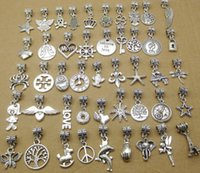 Wholesale DIY beads charm Bracelet mixed styles European Women Jewelry sold per bag per bag