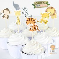 animal cupcake designs - 8 designs Caution wild animal Cupcake Toppers Picks birthday weddiny decorations wild animal event party favorsg part
