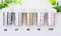 ag wrap - holesale Nail Foil Designs rolls set DIY Transferable Nail Wraps Decals Nail Beauty Craft Fingernails Accessories Tools tooling ag