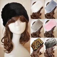 winter ear cap - Hot Sales Fashion Ladies Women Faux Fur Plush Winter Ski Hats Caps Headband Ear Warmer Earwarmer Fx283