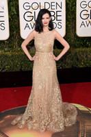 backless dress shop - 2016 Fashion Golden Globe Awards Celebrity Dress Eva Green Red Carpet Long Dresses Dress Shop Evening Dresses Beaded Special Occasion Dress