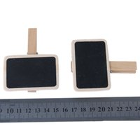 Wholesale FS Hot Cute Mini Message Wooden Blackboard Note Photo Paper Clips order lt no track