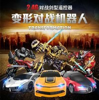 Wholesale Automatic Deformation Remote Control Car Super Race Car Electric Toys RC Car Will Be Deformed Kids Toys