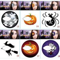 bat tattoos - 11 Style New Halloween Vampire Bat Pumpkin Spider Blood Fingerprints Skull Witch Eye Waterproof Tattoo Stickers Temporary
