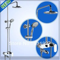 Wholesale sanitary ware bathroom accessories good fashion style liftable rainfall shower mixer set with low price emergi