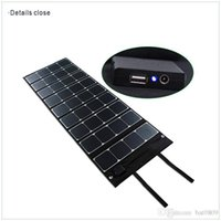 used boats - High efficient Portable W solar panel kit Dual Output charger for laptop digital camera outdoor use