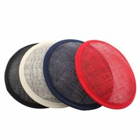 Wholesale Hot Linen Round Fascinator Base Decoration Hair Accessories
