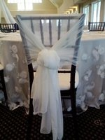 best modern chairs - Wedding Decorations White Chair Covers Sashes Chiffon Best Material Custom Made Popular Chair Sashes Approx Length m Dhgate