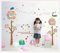 big house plants - High quality BIG size cm DIY Art PVC Flower Tree Calf Elephant Wall Stickers Nursery Kids Bedroom Home Decor House AY213