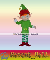 adult elf outfits - MALL174 Custom Character Adult Size Christmas Elf boy Mascot Cartoon Costume Fancy Dress Party Complete Outfit Halloween Fancy Dress Clothes