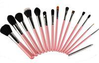 Wholesale one set professional makeup brushes set makeup brush Black Pink Blue Yellow Beauty Tools