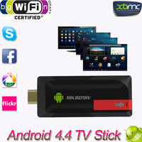 Wholesale Mini PC MK809IV TV Media Player Fly Mouse T3 T6 RK3188T Quad Core Android TV Stick Dongle G GB XBMC Bluetooth DLNA Wifi V834
