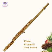 Wholesale Golden plated cupronickel fluteCupronickel flute hot sale