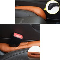 Cotton leather seat cover - Hot Sale Supply Car Gap Seat Cover Leather Leakproof Crevice holster Filler Stopper Pad Congestion Accessories Protector Sleeve