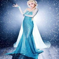 factory direct clothing - Factory Direct Hot Sell Cosplay Cartoon Halloween And Christmas costumes Frozen Elsa Adult Clothing Wedding Dress Evening Dresses S XXL