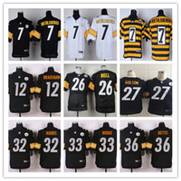 27 - Pittsburgh football Steelers rugdy Jerseys ROETHLISBERGER BRADSHAW BELL GOLSON HARRIS HODGE BETTIS freeshipping