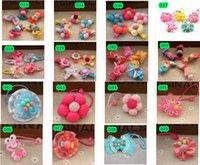 artificial pumpkin - Choose a variety of styles Korean plum plaid pumpkin flower buttons children headdress hairpin side clip hair accessories BB fol
