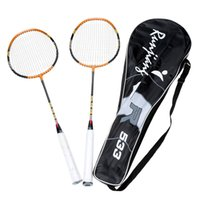 Wholesale High Elasticity Training Badminton Racket Racquet with Carry Bag Sport Equipment Durable Lightweight