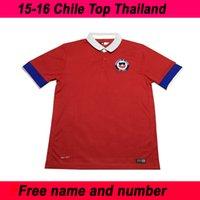 15 Camisa Nuevo Chile Soccer Kit Uniforme del jersey del fútbol del club deportivo del equipo superior de Tailandia Hombres manga corta envío gratuito personalizada Nombre Número
