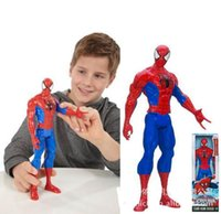 Wholesale 2015 Genuine Spiderman D doll model Titan Hero Large Marvel Action Figure Boys inch Spiderman Kids Child Toys high quality