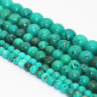 Wholesale 4MM MM MM Natural Turquoise Round Stone Beads For Making Jewelry Diy Crafts Jewelry Loose Beads
