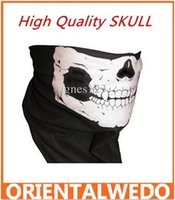 Wholesale New Half Face skull Mask Bike Motorcycle Neck Scarf cotton bandana Headwrap