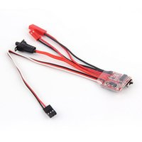 Wholesale 2015 new RC ESC A Brush Motor Speed Controller w Brake for RC Car Boat Tank New UAV Accessories TME260