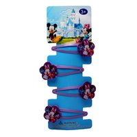 Wholesale FG Cartoon Mickey Minnie Mouse Designs Girl Hair Accessories Hairpin clips Child Hair Accessory set Xmas Gift