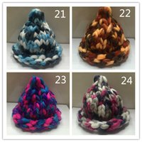 Wholesale 2015 New arrival super thickness acrylic polyster blended wool yarn scarf hat for crocheting G pack