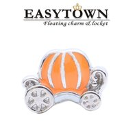 Wholesale 2016 Top quality pumpkin car charms new floating locket charm fits lockets for women jewelry