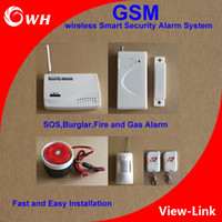 alarm systems installation - GSM Home Security Wireless Smart Security Alarm System SOS Burglar Fire and Gas Alarm Fast and Easy Installation with PIR Sensor Door Sensor