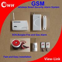 GSM sécurité à domicile sans fil intelligent système d'alarme de sécurité SOS cambrioleur Fire and Gas Alarm installation rapide et facile avec capteur de porte PIR capteur