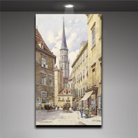 modern painting decorative - Modern Urban Watercolor Painting Wall Art Canvas Painting House Decorative Mural Painting Picture