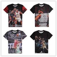 basketball flash game - 2015 Summer new styles d t shirt basketball stars LeBron James USA all star basketball sports game t shirt