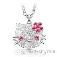 Korean version clothing chain - 2014 new fashion Locket Necklace noble gold full diamond Austria crystal flash circular wool clothing chain necklace women