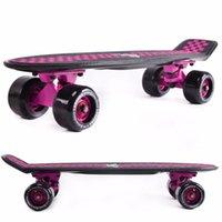 Wholesale peny boards for sale complete Skateboard griptape Retro Mini Skate long board cruiser longboard complete wheels led lights
