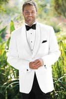Cheap 2015 - the groom like a Hollywood star, white for the groom and his attendants wedding suit (jacket + pants + tie, vest)