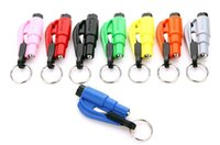 Wholesale Seatbelt Cutter Emergency Glass Breaker KeyChain Tool Smart AUTO Emergency Safety Hammer Escape Lift Save Tool SOS Whistle