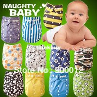 bamboo charcoal suppliers - 1 Set Cloth Diapers Naughtybaby Supplier Double Adjustable Cloth Diapers Urine Nappies covers Charcoal Bamboo Insertszz1