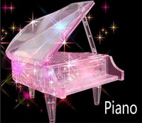 Wholesale 1Piece DIY Piano three dimensional Crystal Puzzle d Assembling Puzzle Mania Creative Fun Toy Children gift