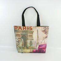 arc canvas - Direct Selling Paris Landscape Print Canvas Tote Bag Women s Shopping Handbags Magnificent arc DE triomphe in Paris