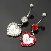 achat en gros de coeur ventre-Boucles d'oreilles en forme de bijoux en forme de bijoux de mode en acier inoxydable et en alliage de zinc