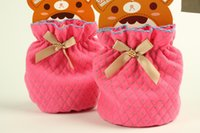 Wholesale Children wave point space cotton cute bow cuff adult cuff sleeves mixed colors pairs a bag