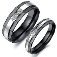 asian idea - ideas fine jewelry titanium steel couple rings exquisite workmanship Micro Pave zircon GJ435