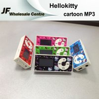 Wholesale New Cute Cartoon Hellokitty TF Card MP3 Player mm Support Audio Formats MP3 WMA Mini MP3 Player Screen Music Player