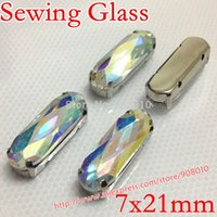 abs long dresses - Crystal AB Color x21mm Long Classical Oval Fancy Stone With Metal Claw Setting For Sewing On Jewelry Dress shoes making