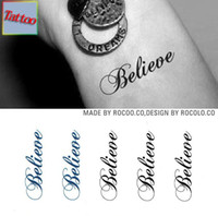 believe decorations - Temporary tattoos Waterproof tattoo stickers body art Painting for party event decoration letter believe