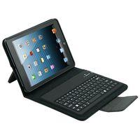 Wholesale 2015 new bluetooth keyboard For iPad mini case Wireless Bluetooth Keyboard PU Leather Stand Case Cover For iPad Mini