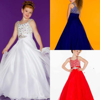 Reference Images little girls beautiful dresses - Beautiful Spaghetti Strap A Line Red White Blue Black Girls Pageant Dress Beads Pleat Sash Little Girls A Line Ball Gown Flower Girl Dress