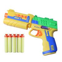 airsoft guns safe - Plastic Foam Eva Gift Children Kids Boy Safe Army Air Soft Airsoft Gun Pistol Blaster Toy Set